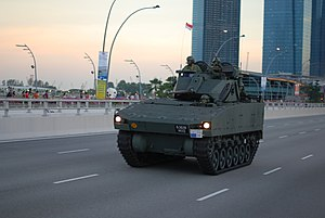 A Singapore Army Bionix infantry fighting vehicle