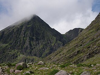 Carrauntoohil - The northeast face of Carrauntoohil with Bro O'Shea's Gulley on the right