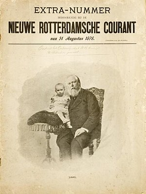 Nieuwe Rotterdamsche Courant - Supplement 1898, with Princess Wilhelmina and her father