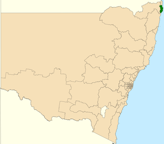 Electoral district of Ballina - Location in New South Wales