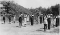 """NYA-""""class in physical education at Vicksburg Negro High School""""-""""grounds are being improved as a NYA work project"""" - NARA - 195367.tif"""