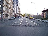 Na Florenci, bývalá tramvajová trať (03).jpg