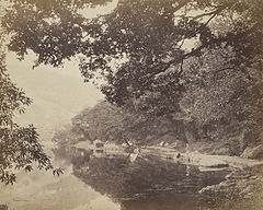 Nainital lake, towards Mallital,1865.jpg