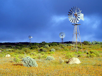 Northern Cape - Windmills in Namaqualand, Northern Cape