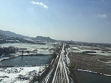 Nanjing-Tongling Railway in snow (20160124125500).jpg