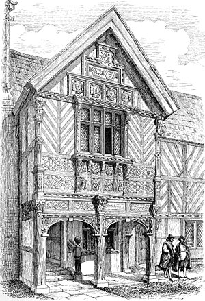 Nantwich Grammar School - Porch of the Old Grammar School