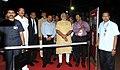 Narendra Modi being briefed of the Launch Vehicle, during his visit at First Launch Pad, at Sriharikota, in Andhra Pradesh. The Chief Minister of Andhra Pradesh, Shri N. Chandrababu Naidu.jpg