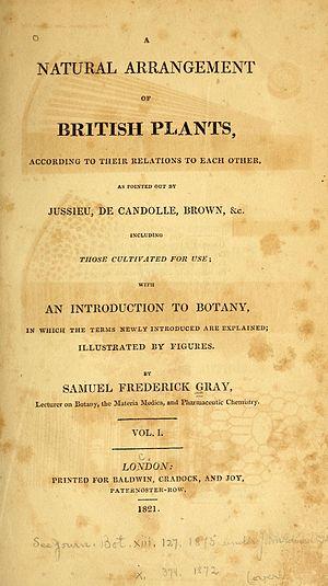 A Natural Arrangement of British Plants cover