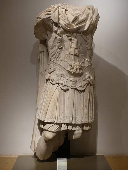 """UNDER ARMOUR"": Marble statue of Hadrian from Tyre at the National Museum of Beirut NationalMuseumOfBeirut EmperorHadrianMarble-Tyre RomanDeckert06102019.jpg"
