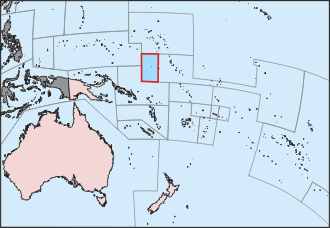 Flotilla of Hope - The voyage departed from Australia to Nauru Island in the highlighted box