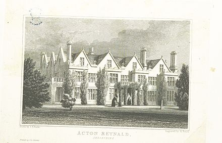 Acton Reynald Hall in 1826