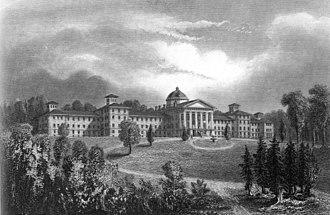 Trenton Psychiatric Hospital - Engraving of the hospital (undated, mid-19th century)