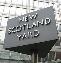 New Scotland Yard sign 3