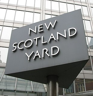 Scotland Yard headquarters of the Metropolitan Police Service, London