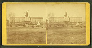United States Naval Academy - Stereoscopic views of midshipman quarters and mess hall c. 1905