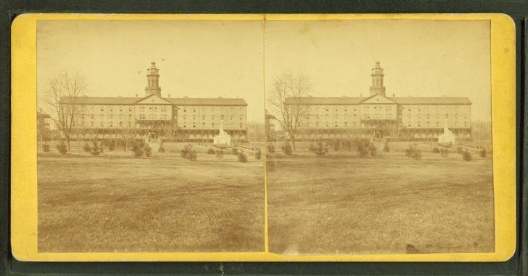 New cadet quarters and mess hall, from Robert N. Dennis collection of stereoscopic views