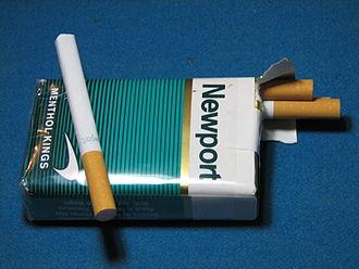 Newport (cigarette) - A soft pack of Newport Menthol cigarettes