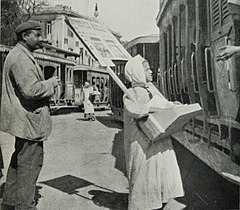 Newspaper-Boy Selling Seditious Periodicals to the People in the Trams in the Ataba-el-Khadra. (1911) - TIMEA.jpg