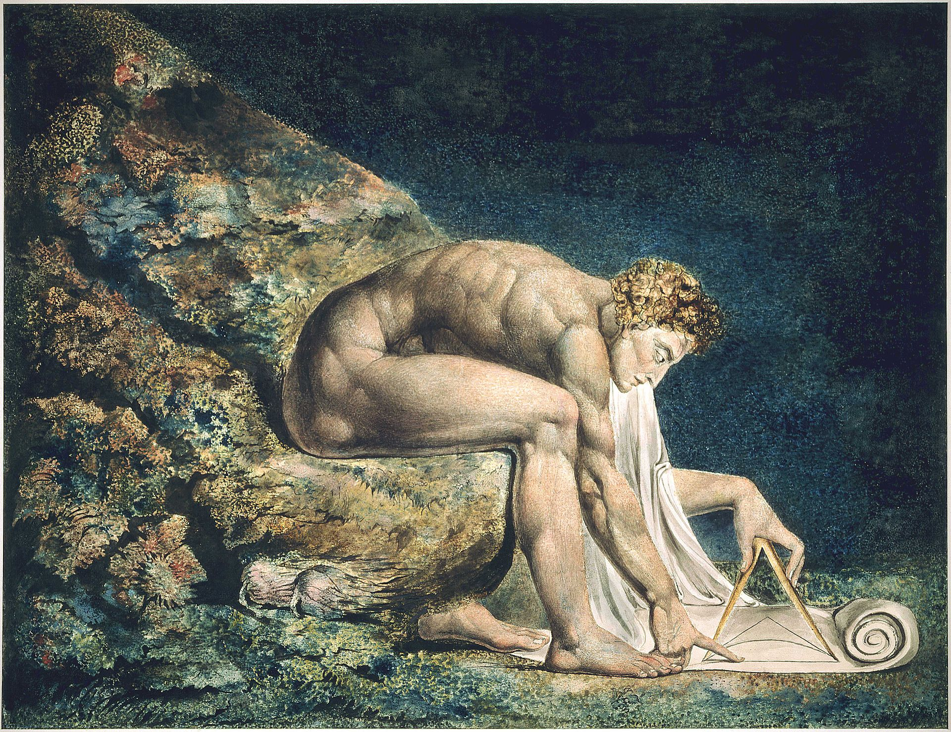 monotype by the English poet, painter and printmaker William Blake
