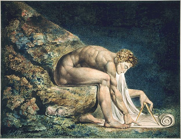 «Ньютон» Вильяма Блейка; здесь Ньютон изображен как «божественный геометр»