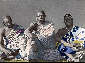 Three young Ngoni chiefs. The Ngoni made their way into Eastern Zambia from KwaZulu in South Africa. They eventually assimilated into the local ethic groups. Ngoni Chiefs.jpg