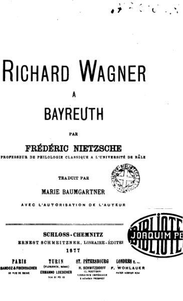 File:Nietzsche - Richard Wagner à Bayreuth (trad. Baumgartner).djvu