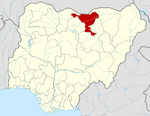 Map of Nigeria highlighting Jigawa State
