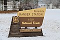 Ninemile Ranger Station - Lolo National Forest sign - Huson Montana.jpg