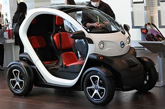 "Renault Twizy - The Nissan New Mobility Concept, a rebadged version of the Twizy, was deployed for the ""Choimobi Yokohama"" carsharing program in Japan in 2013."