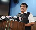 Nitin Gadkari addressing at the launch of the Integration of Digital Locker with Driving Licence and vehicle registration system of the Ministry of Transport and Highways, in New Delhi.jpg