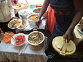 Njahi, Nduma, Chapati, Kachumbari, chicken - an average Kikuyu party mix.JPG
