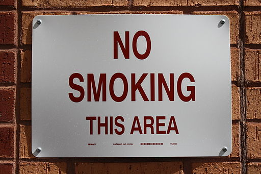 No smoking sign on campus of Georgia Tech