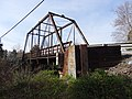 Nokesville Truss Bridge; south and east sides, angled detail; Nokesville, VA; 2014-04-13.jpg