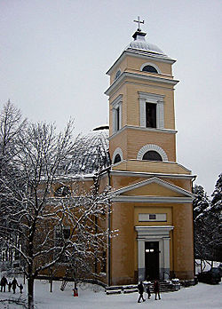 Nokia church (designed by C. L. Engel) in December 2005