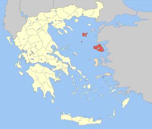 Lemnos (regional unit) - Image: Nomos Lesvou
