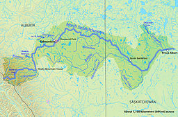North Saskatchewan Rivers afvandingsområde