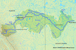 Battle River - Image: North Sask Map