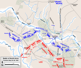 Stalemate: Union and Confederate positions May 25–26