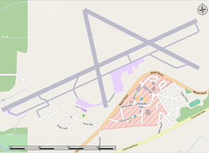 North Bay/Jack Garland Airport - North Bay Airport, with CFB North Bay in red at the bottom of the image.