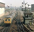 North of Leicester station, Nigel Tout, July 1985.jpg
