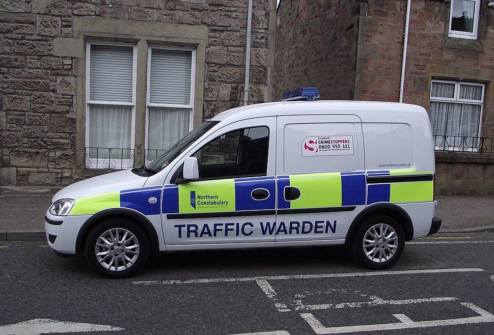 Northern Constabulary Vauxhall van (Traffic Wardens) (1)