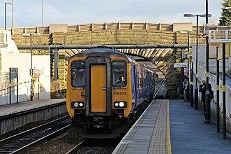 Lea Green railway station - Image: Northern Rail Class 156, 156428, Lea Green railway station (geograph 3818941)