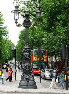 road in central London
