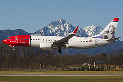 Norwegian Air Shuttle in Salzburg with Kirsten Flagstad on tail.jpg