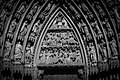 Notre-Dame de Strasbourg tympan portail occidental nord Rois mages.jpg