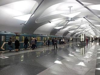 Novokosino (Moscow Metro) - Image: Novokosino metro 4