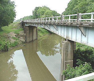Noxubee River - A bridge crossing of the Noxubee River at Macon, Mississippi