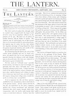 <i>The Lantern</i> Student newspaper of Ohio State University