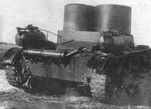 T-26 variants - T-26 mod. 1931 with TKhP-3 tank chemical equipment.