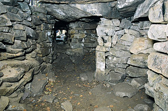 Megaliths in the Urals - Vera Island. Megalith 1 inside.